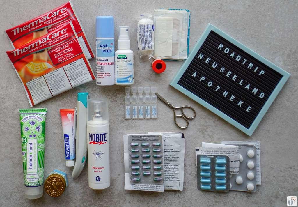 """Packliste """"Medikamente"""" {46 Tage Roadtrip durch Neuseeland mit dem Bus}"""