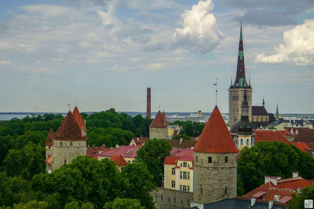 Blick vom Domberg-Toompea auf Tallinn - Estland