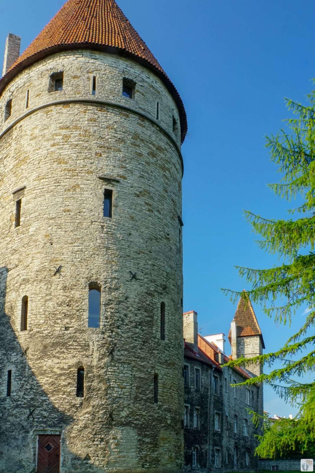 Teil der Stadtmauer von Tallinn - Estland