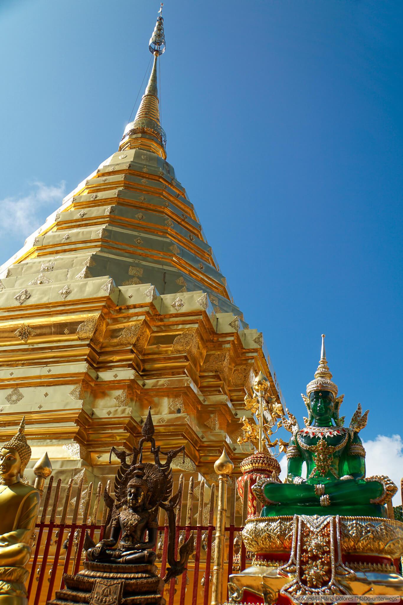 Wat Phra That Doi Suthep bei Chiang Mai: Chedi (Reisetagebuch «Thailand als Alleinreisende ohne Roller entdecken»)
