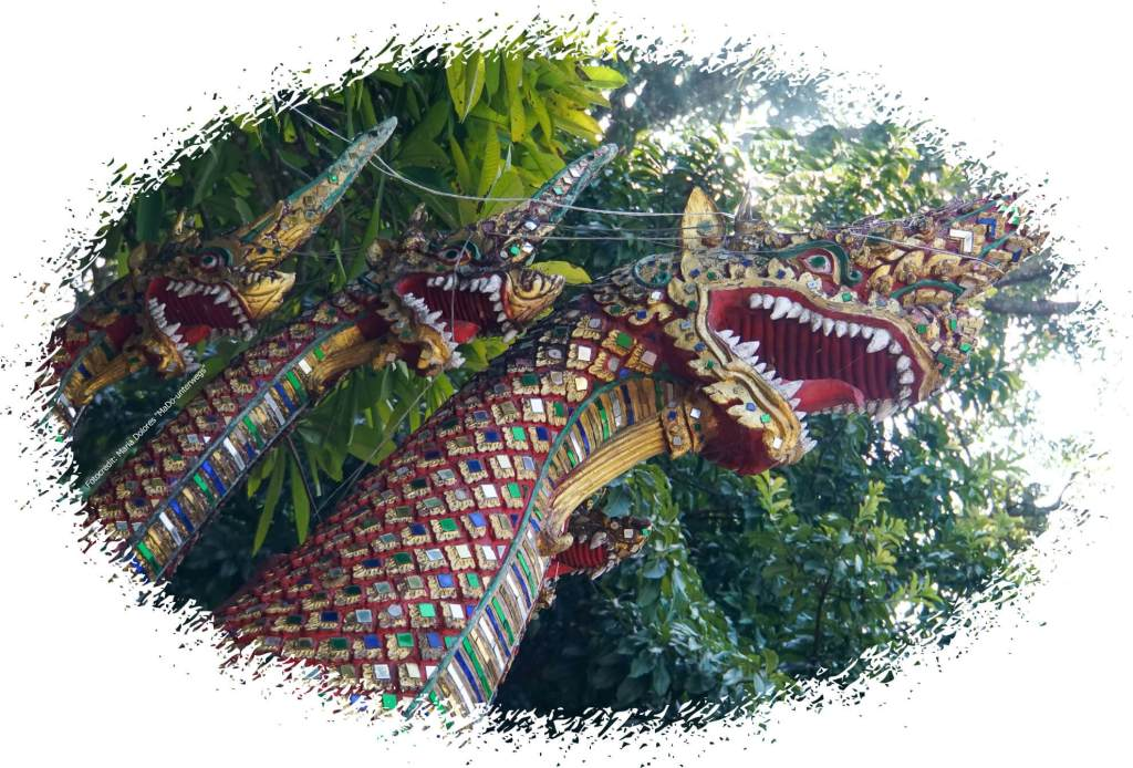 Wat Phra That Doi Suthep bei Chiang Mai: Nagas (Reisetagebuch «Thailand als Alleinreisende ohne Roller entdecken»)
