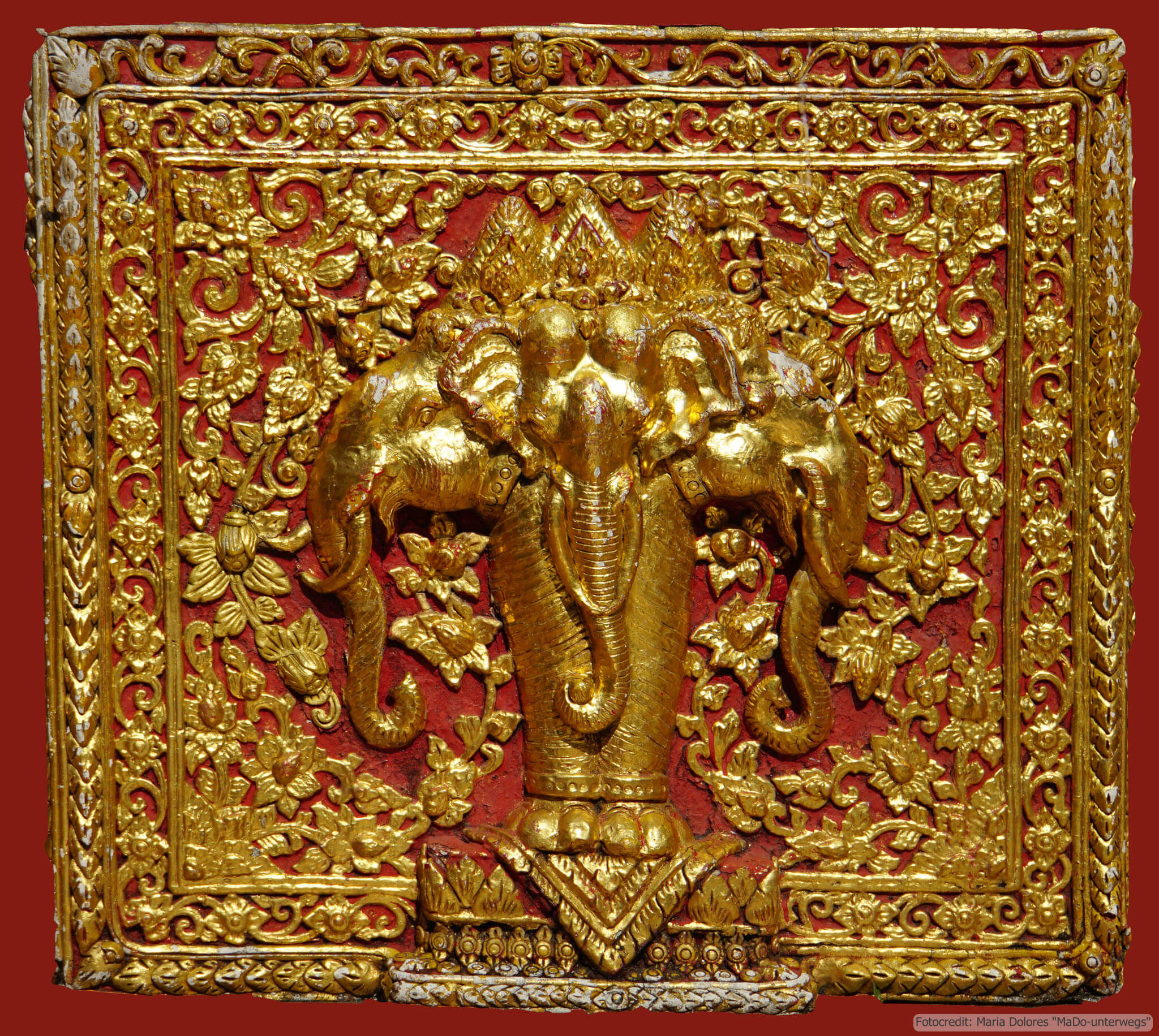 Wat Phra That Doi Suthep bei Chiang Mai: Verzierungen im Detail (Reisetagebuch «Thailand als Alleinreisende ohne Roller entdecken»)