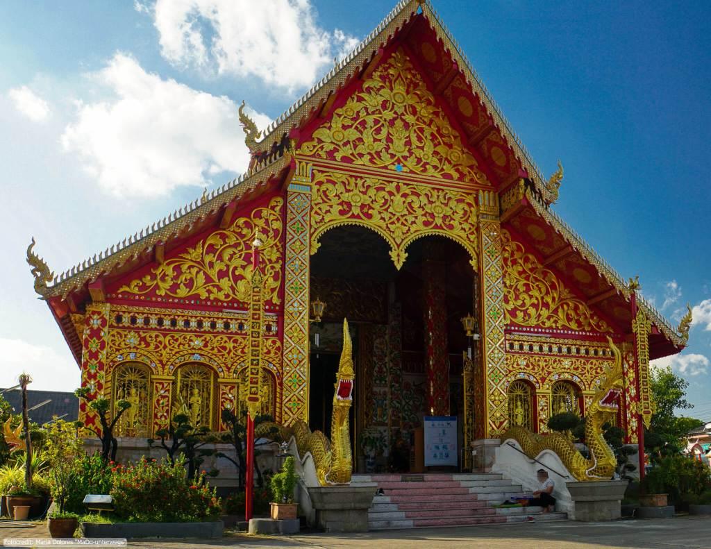 Wat Jed Yod in Chiang Rai - Ubosot (Reisetagebuch «Thailand als Alleinreisende ohne Roller entdecken»)