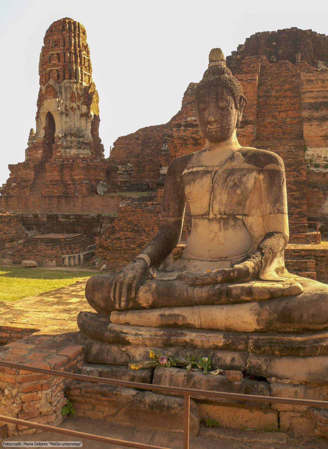 Wat Mahathat in Ayutthaya (Reisetagebuch «Thailand als Alleinreisende ohne Roller entdecken»)
