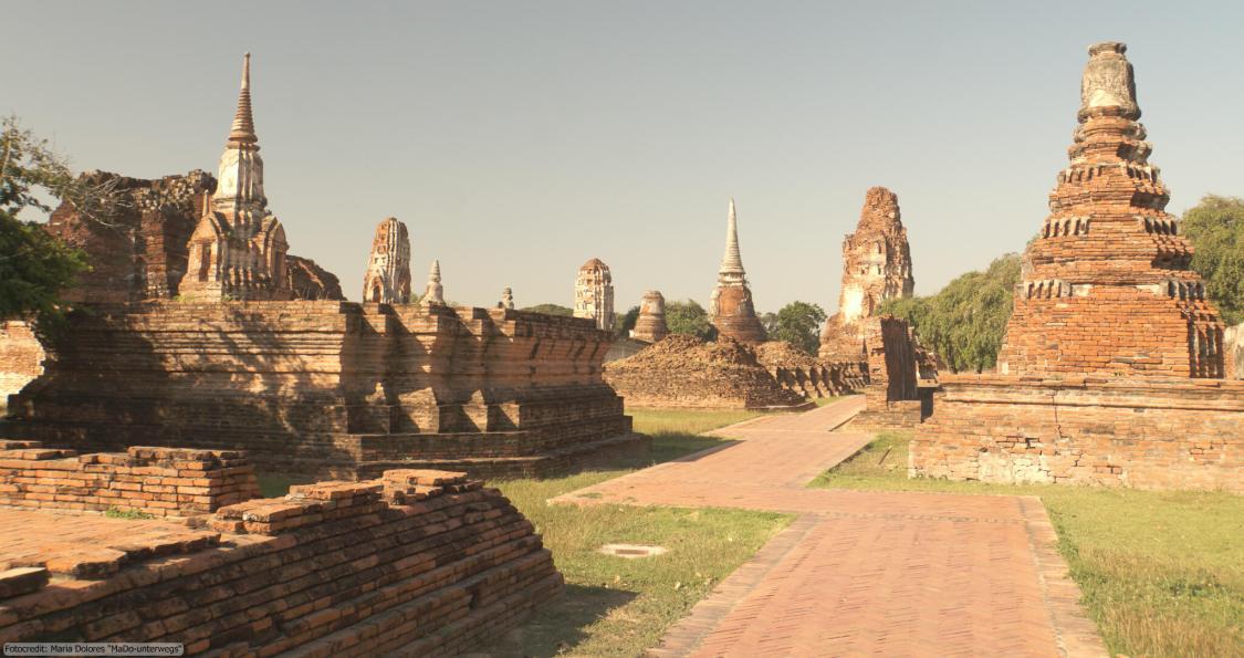 Wat Mahathat in Ayutthaya - Main Prang (Reisetagebuch «Thailand als Alleinreisende ohne Roller entdecken»)