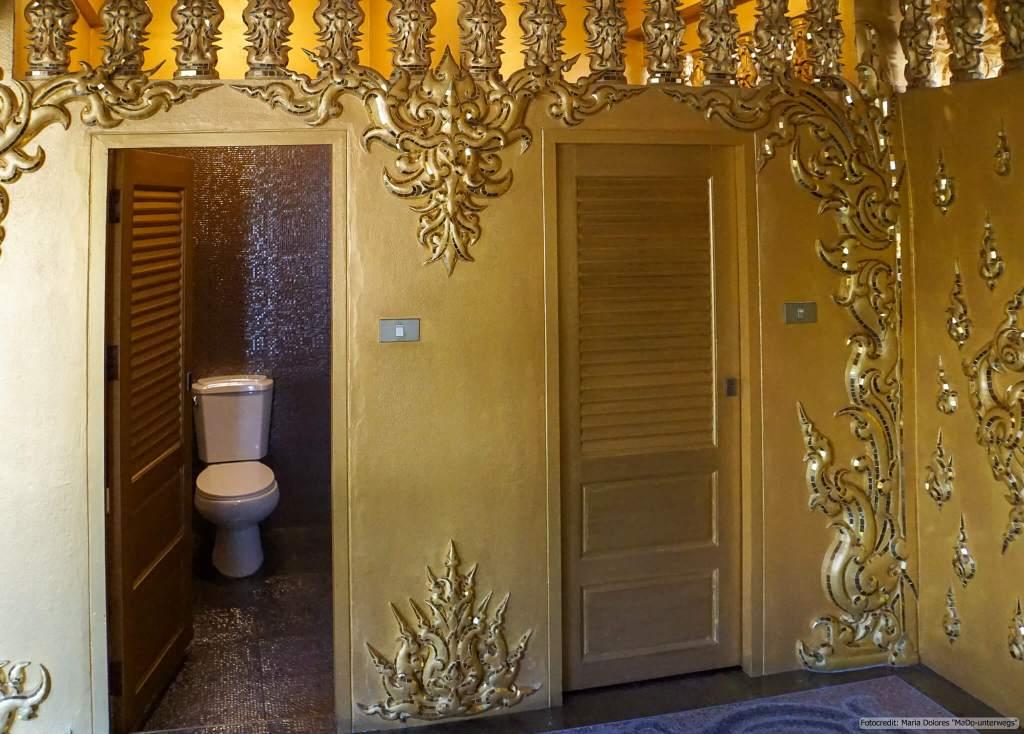Wat Rong Khun (Weißer Tempel) in Chiang Rai - Toilette (Reisetagebuch «Thailand als Alleinreisende ohne Roller entdecken»)