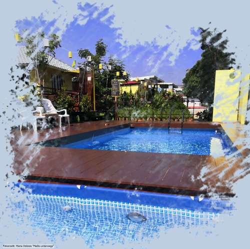 Mango House in Sukhothai - Poolbereich (Reisetagebuch «Thailand als Alleinreisende ohne Roller entdecken»)