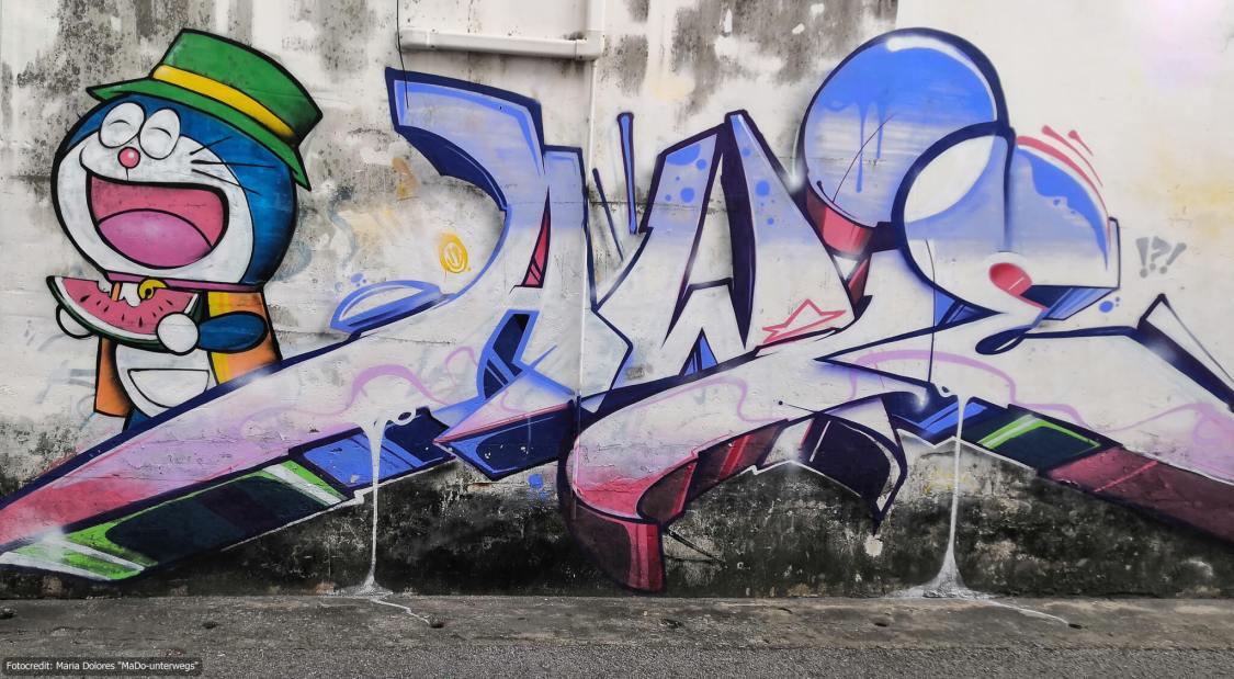 Street-Art in Phuket Town (Reisetagebuch «Thailand als Alleinreisende ohne Roller entdecken»)
