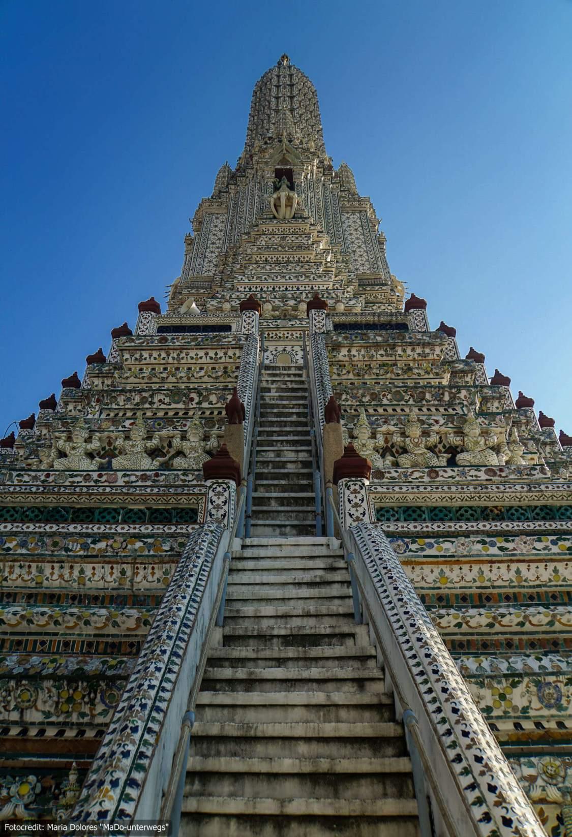Wat Arun (Tempel der Morgenröte) in Bangkok (Reisetagebuch «Thailand als Alleinreisende ohne Roller entdecken»)