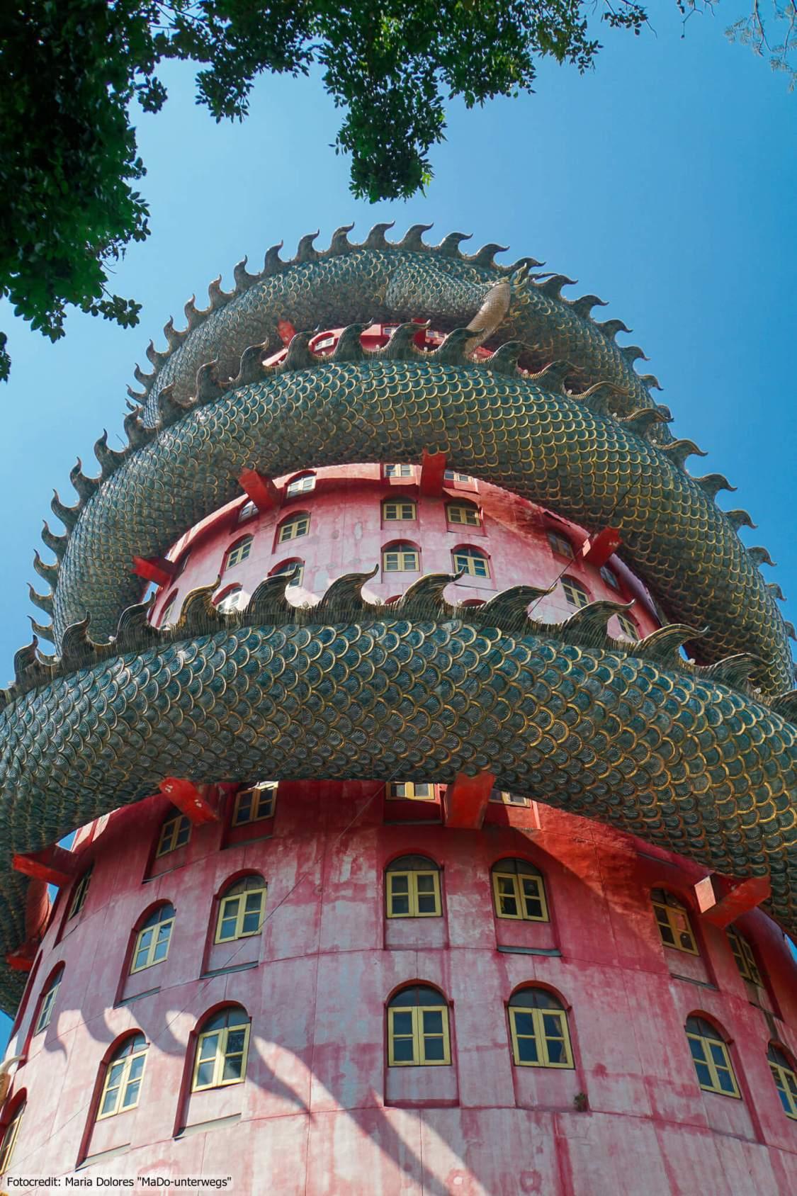 Wat Samphran (Drachentempel) in Nakhon Pathom (Reisetagebuch «Thailand als Alleinreisende ohne Roller entdecken»)