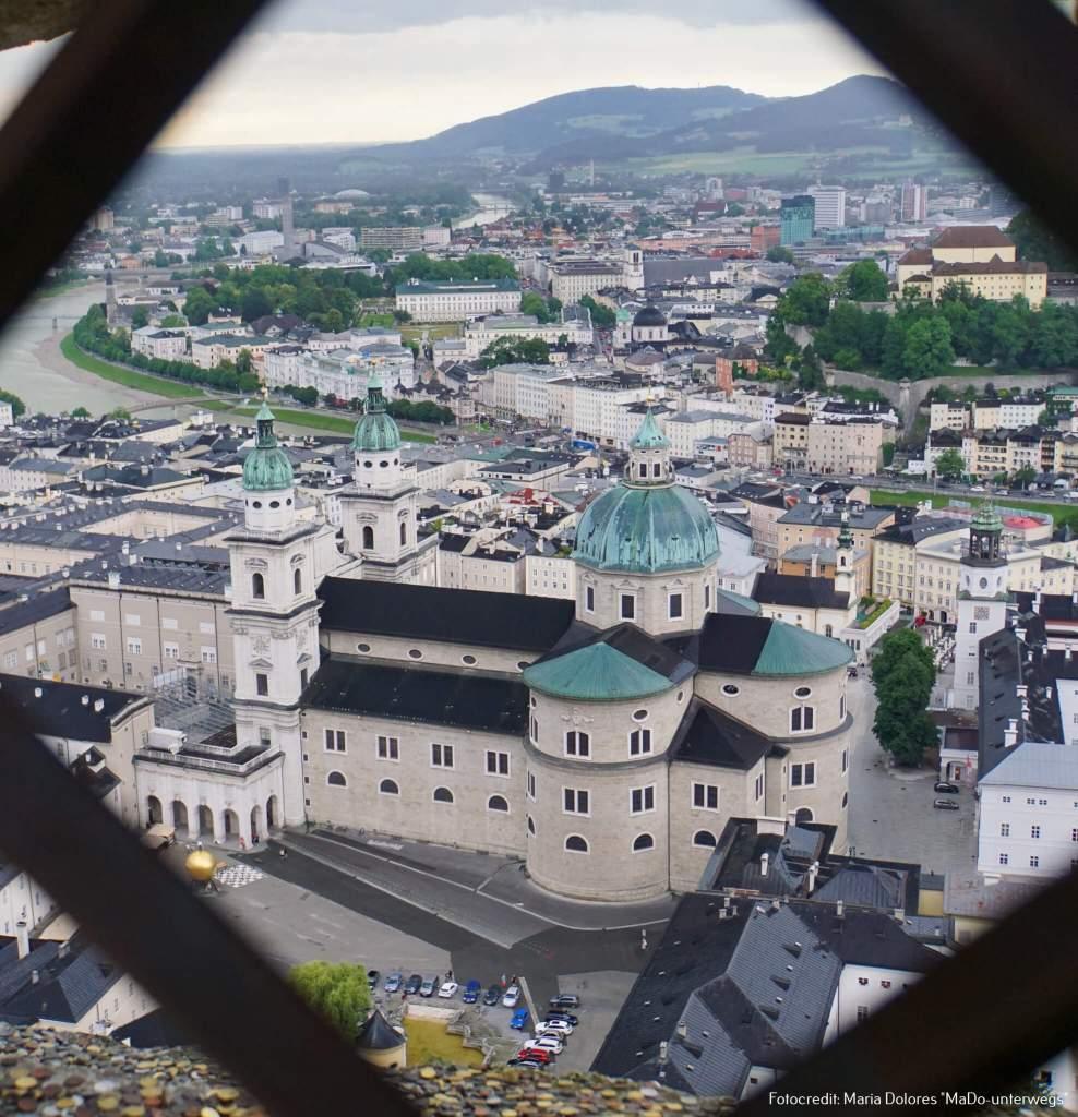 Salzburger Dom von der Festung Hohensalzburg [10 Tage Roadtrip Salzburg]