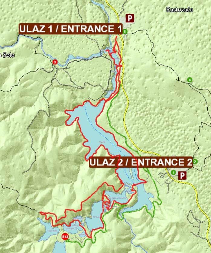 ScreenShot vom Wanderweg Programm K im Nationalpark Plitvička Jezera - Kroatien