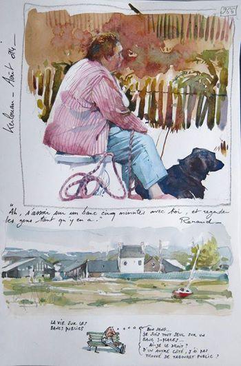 yann lesager breton bretagne pêcheur humour graphiste illustrateur marin aquarelle pastel
