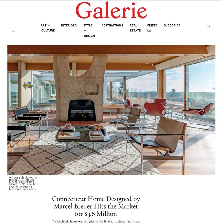 Madonna and Phillips Real Estate Group GALERIE Marcel Breuer Gagarin House 1