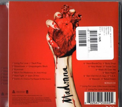 Rebel Heart FNAC edition (France) - Madonnaunderground