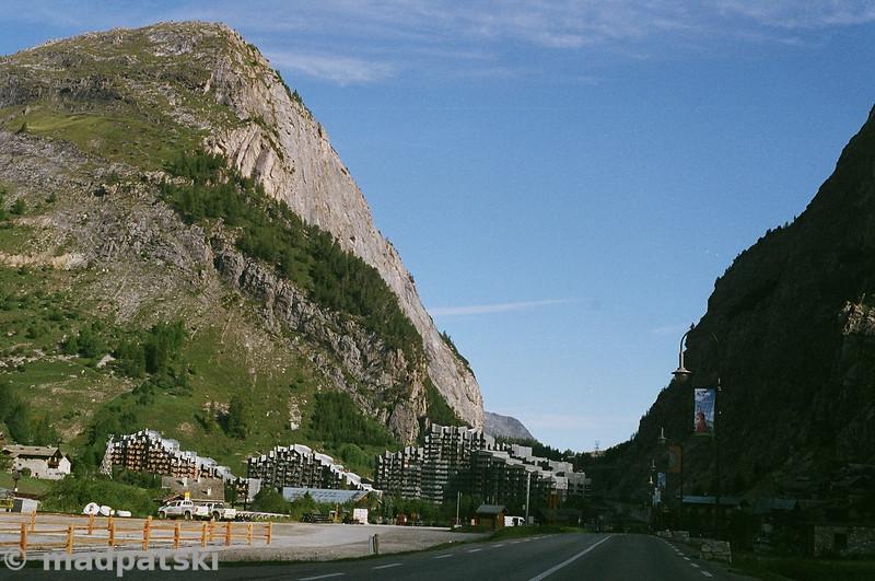 13 août 2011: La Daille, Val d'Isère (Savoie) (vue vers le nord)..