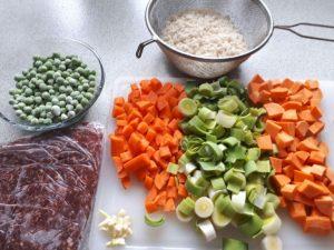 Grøntsager til risret