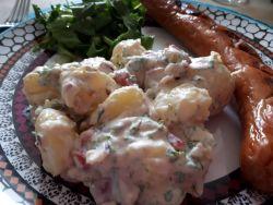 Kartoffelsalat uden maionaise