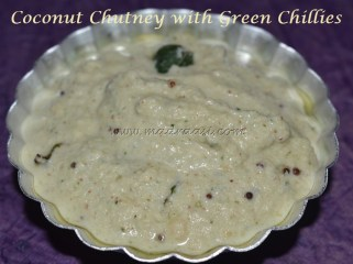 Coconut Chutney with Green chilles