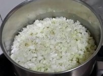 Cauliflower getting boiled