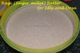After fermentation - Ragi / finger Millet Batter