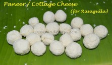 Homemade Paneer / Cottage Cheese balls