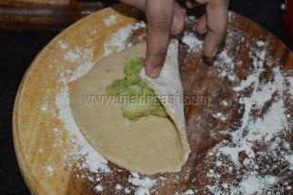 With Broccoli potato mixture