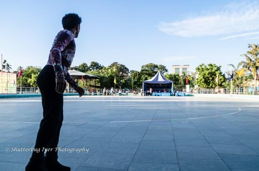 Skating rink in Shenoy Nagar
