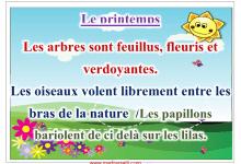 Photo of affichage outils d'aide à la description des saisons été hivers automne printemps