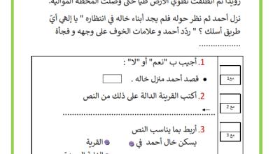 Photo of تقييم توجيهي في مادة القراءة السنة الثانية السداسي الأول