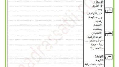 Photo of تقييم انتاج كتابي السنة الثالثة السداسي الأول