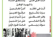 Photo of بمناسبة عيد الشهداء : قصيدة شهيد الوطن