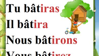 Photo of Conjugaison du verbe bâtir au présent passé composé et futur – Affichage 6 ème année