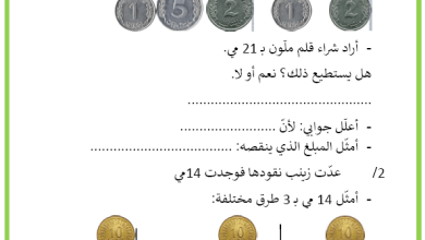 Photo of القطع النقدية من 1 الى 20 تمارين في مادة الرياضيات