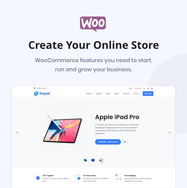 Front WooCommerce