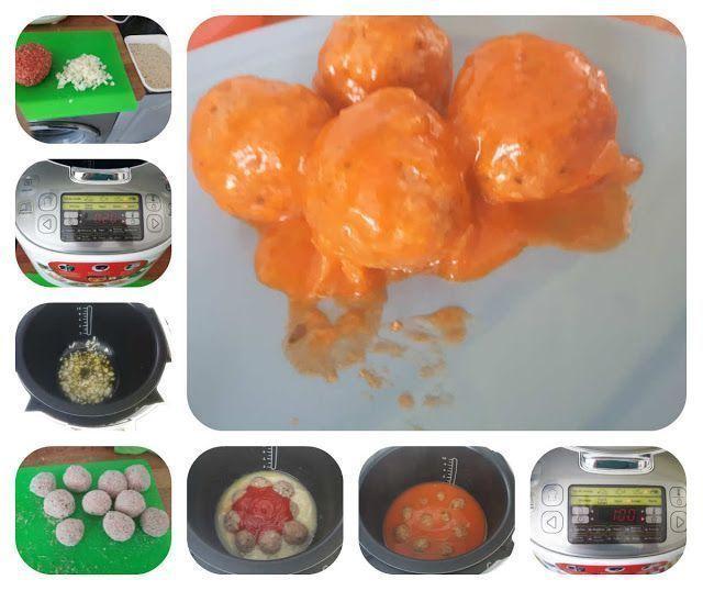 Albondigas con tomate en el robot de cocina moulinex maxichef advanced