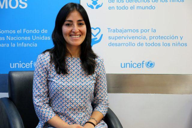 Sandra Astete, especialista en Políticas de Infancia de UNICEF.