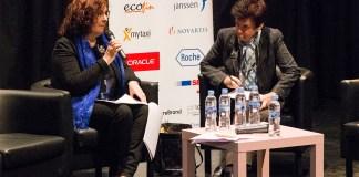 Ana Buñuel, directora general de Igualdad entre mujeres y hombres del área de Gobierno Sociales y Empleo del Ayuntamiento de Madrid, explicando las medidas de conciliación