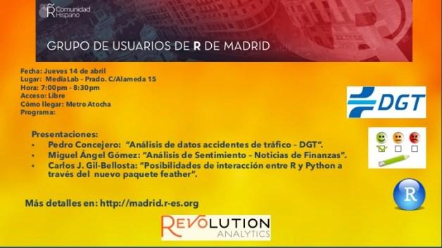 Reunion Grupo Usuarios de R de Madrid - 2016-Abr-14 - V1