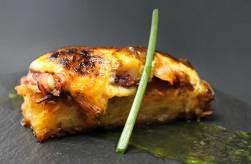 Una de las tapas de César Anca, pulpo con torrija de patata