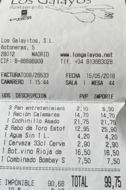 Los Galayos ticket