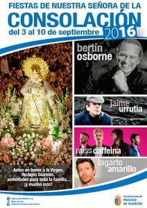 Cartel de las fiestas de Nuestra Señora de la Consolación 2016.
