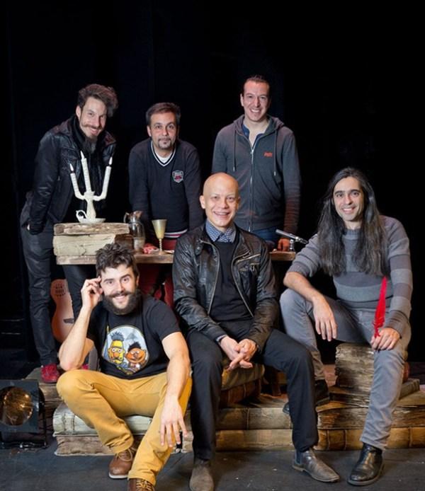 Íñigo Echevarría, Miguel Magdalena, Juan Cañas, Daniel Rovalher, Yayo Cáceres y Álvaro Tato
