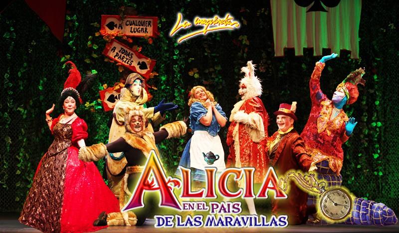 Alicia en el pais de las maravillas el musical en el Teatro principe gran via