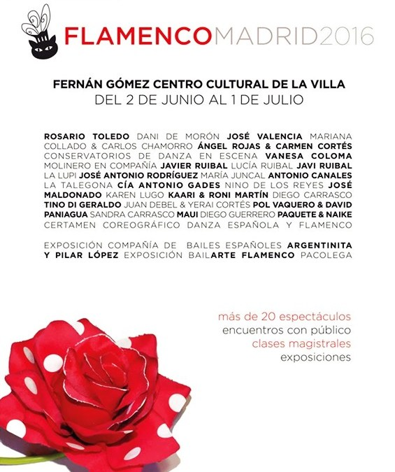 FLAMENCO MADRID 2016 en el Teatro Fernán Gómez