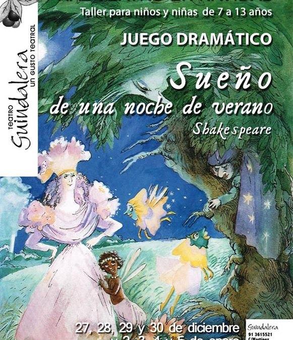 Juego dramático a partir de El Sueño de una noche de verano en el Teatro Guindalera