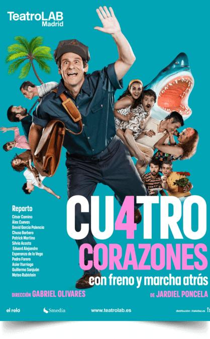 CUATRO CORAZONES CON FRENO Y MARCHA ATRÁS, veranos del Teatro Galileo