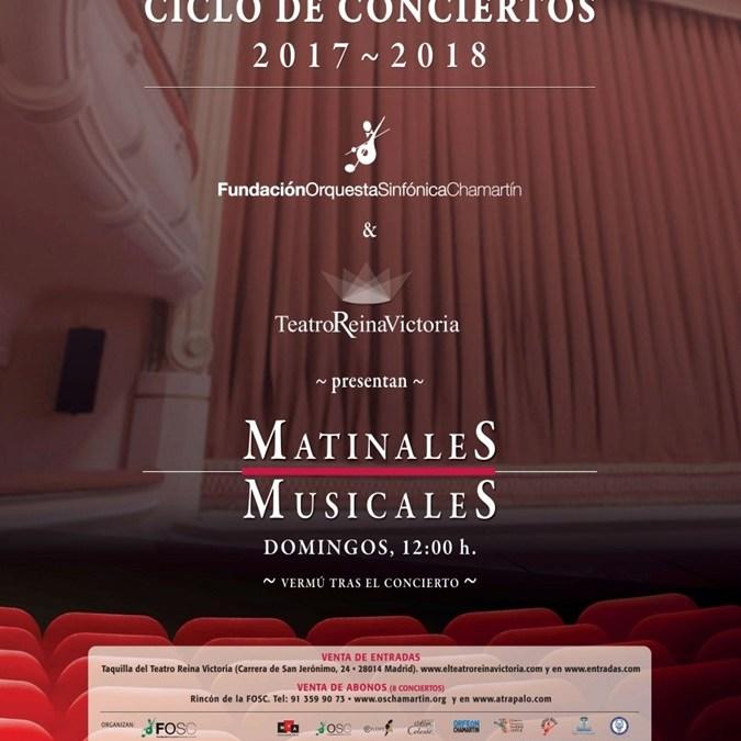 MATINALES MUSICALES en el Teatro Reina Victoria