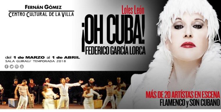 ¡OH CUBA! en el Teatro Fernán Gómez
