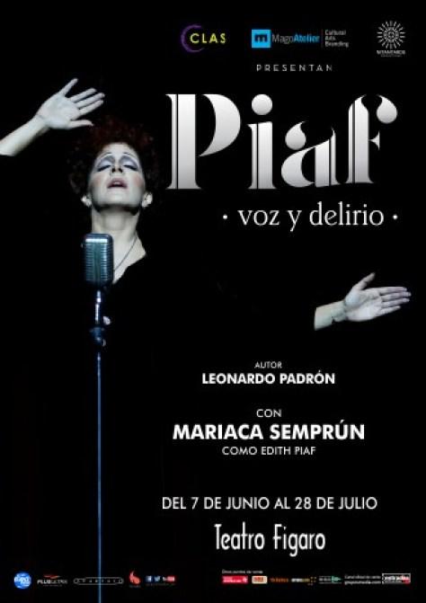 PIAF, VOZ Y DELIRIO, el musical, Teatro Fígaro